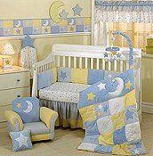 Celestial Sun Moon And Stars Theme For The Baby S Room Baby Room Themes Moon Stars Baby Nursery Crib