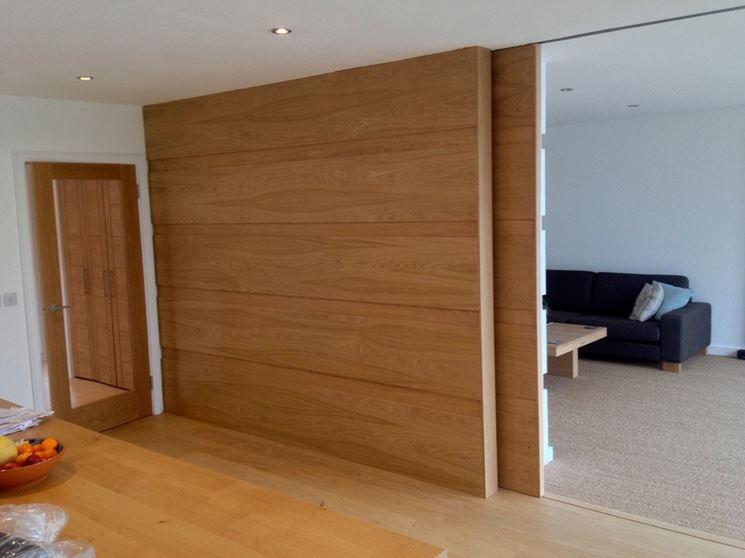 Parete divisoria scorrevole in legno pareti divisorie for Pareti divisorie
