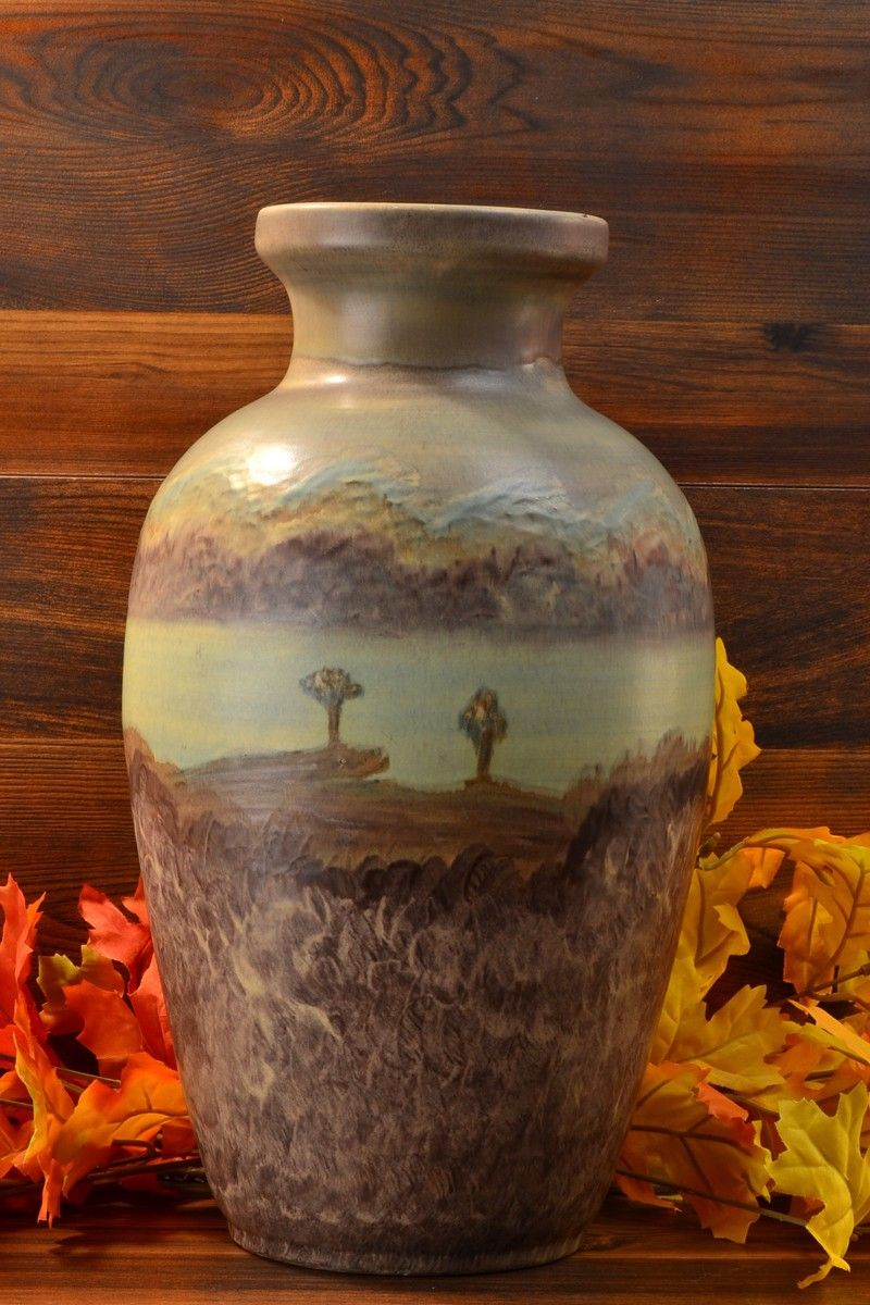 Peters reed pottery landsun scenic 25 vase 1910 antiques peters reed pottery landsun scenic 25 vase reviewsmspy