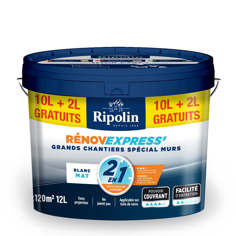 Peinture Blanc Murs Et Plafonds Renov Express Ripolin Mat