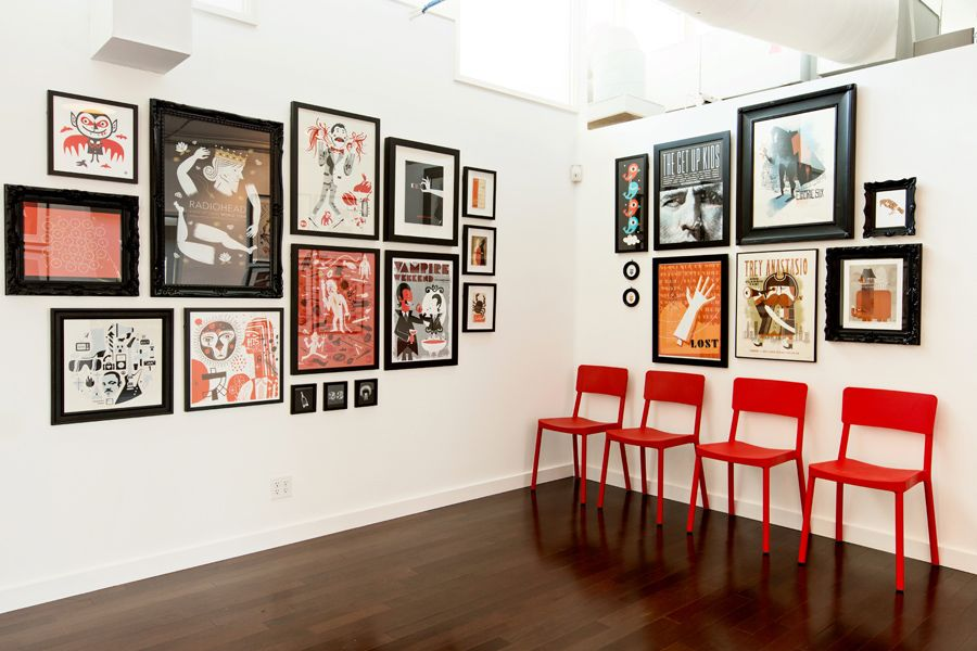 Interior view of SND CYN Studios, Old Town Irvine, Southern California. By Mattson Creative.
