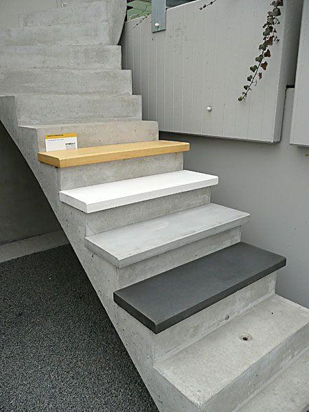 Treppenstufen aus beton treppen pinterest for Treppenstufen fliesen