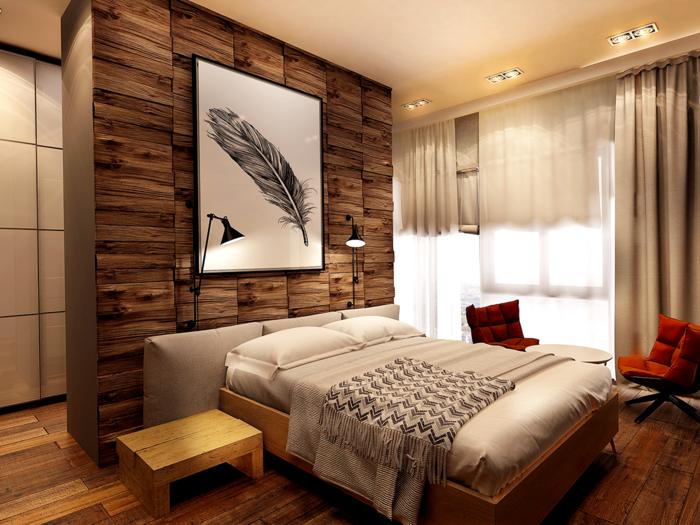 Wandverkleidung Holz 55 Beispiele Dass Holzwande Den Blick Fesseln Schlafzimmer Design Schlafzimmer Gestalten Und Schlafzimmer Landhausstil