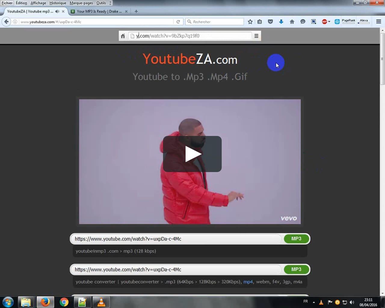 YoutubeZA Download & Convert Vidéo Mp3/Mp4/Gif 2016