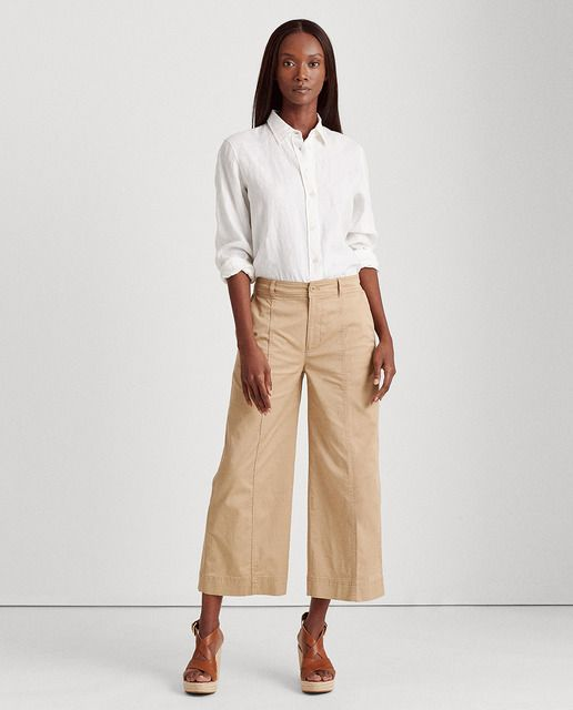 Photo of Lauren Ralph Lauren – Pantaloni da donna fluidi ampi e lisci