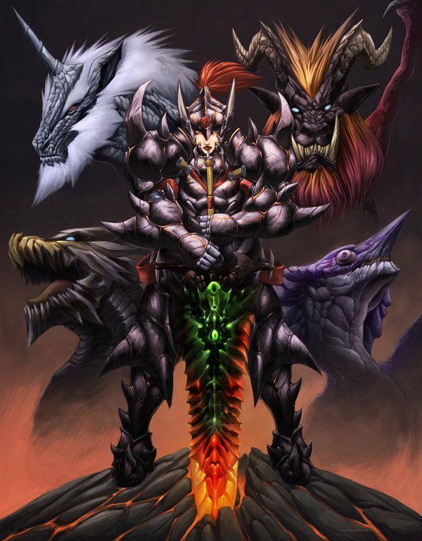 MONSTER HUNTER the elders by Chaos-Draco.deviantart.com on @DeviantArt