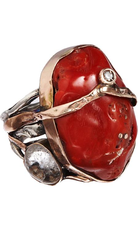 Sandra Dini Red Coral Ring