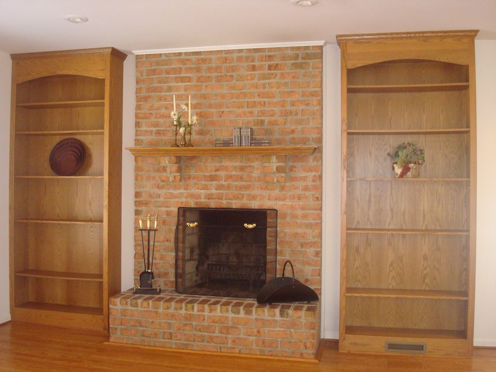 Brick fireplace makeover ideas Google Search Fireplace