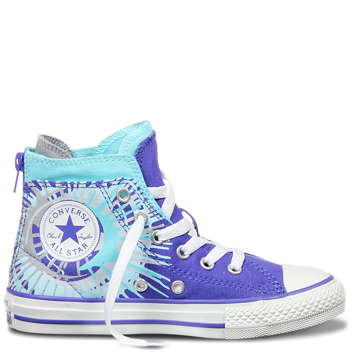 Chuck Taylor All Star Streaming Art Youth Periwinkle Poolside Peacock - Sneakers - Kids