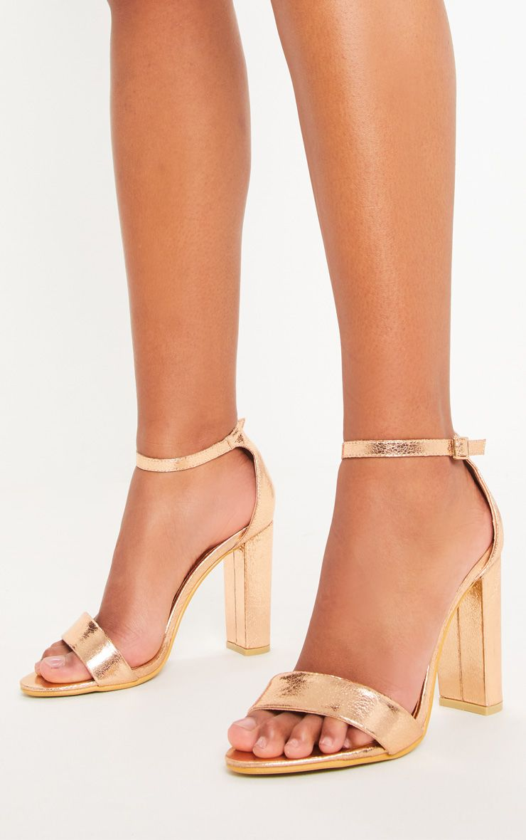 fcb92050f May Rose Gold Block Heeled Sandals in 2019 | 8th grade dance | Gold ...