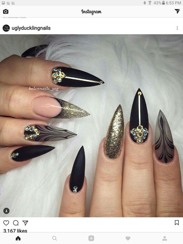 Pin by Nina wright on faye | Pinterest | Stiletto nail art, Nail ...