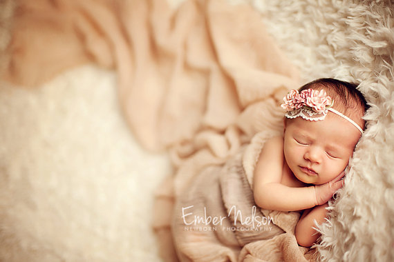 Clearance dainty baby headband vintage inspired headband baby girl newborn photography props vintage pink rose headband