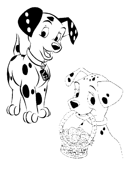 101 Dalmatians Easter Egg Coloring Page Puppy Coloring Pages Coloring Pages Cool Coloring Pages