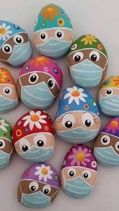Cómo pintar piedras: Especial Pascua - A gusto en casa