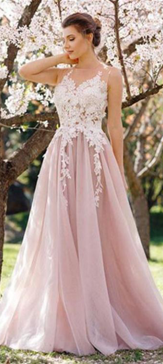 ef7aa4384b0 Lace Tulle Prom Dresses