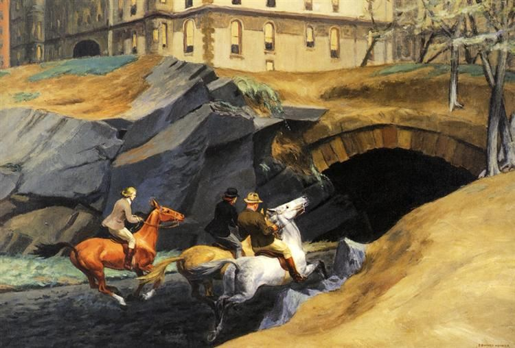 Bridle Path, 1939 by Edward Hopper. Social Realism. cityscape. Private Collection