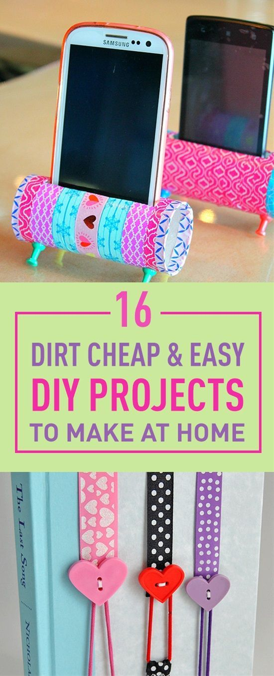 16 Dirt Cheap Easy Diy Projects To Make At Home Homemade Fun