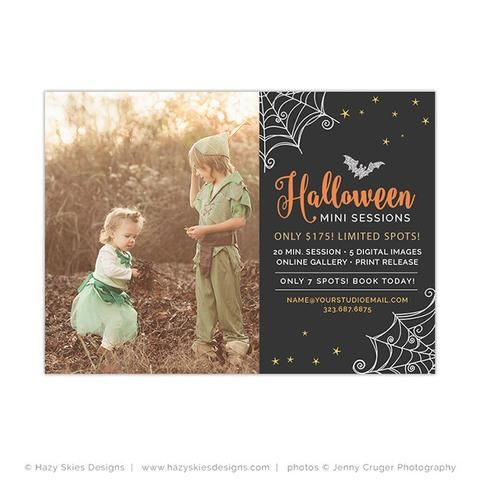 Halloween Mini Session Template Spooky Photography Mini - Photo Album Templates Free