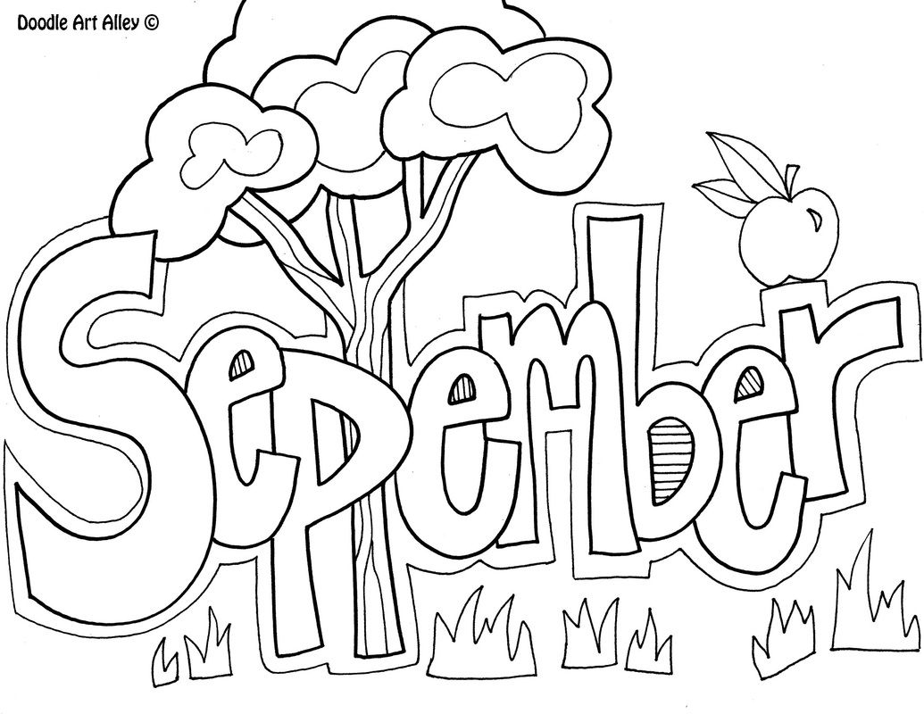 September Coloring Page | tangle | Pinterest | September, Adult ...