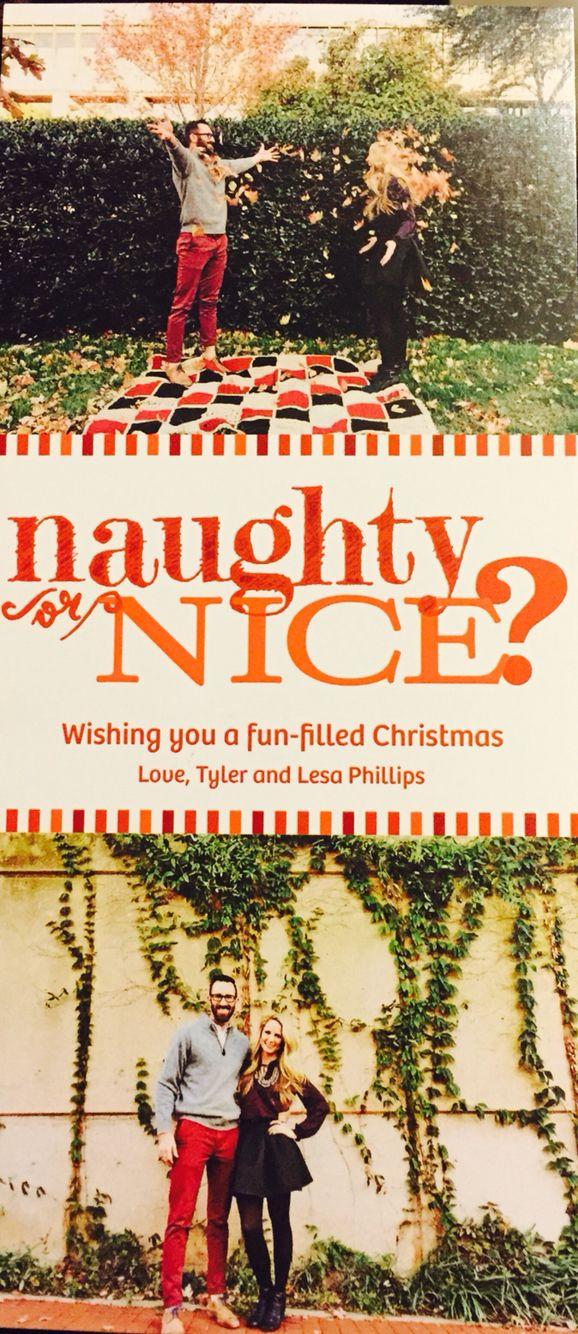 Fun couple Christmas card idea Naughty or nice? Vistaprint.com ...