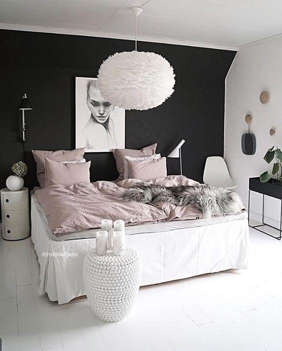 Habitaciones decoradas con color negro habitaciones blancas y negras habitaciones en blanco y - Habitaciones juveniles blancas ...