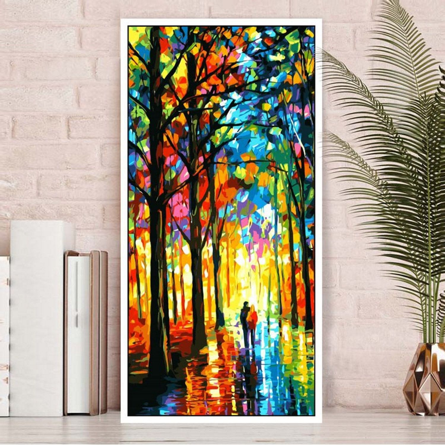 Landscape Paint By Number Kit Large Wall Art Forest Diy Kit Painting On Canvas Home Decor Craft Kit For Adult D Forest Wall Art Large Wall Art Canvas Painting