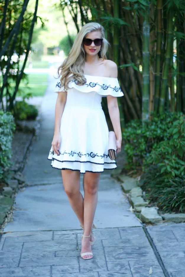 Black and White Embroidered Dress under $50 - | White embroidered ...