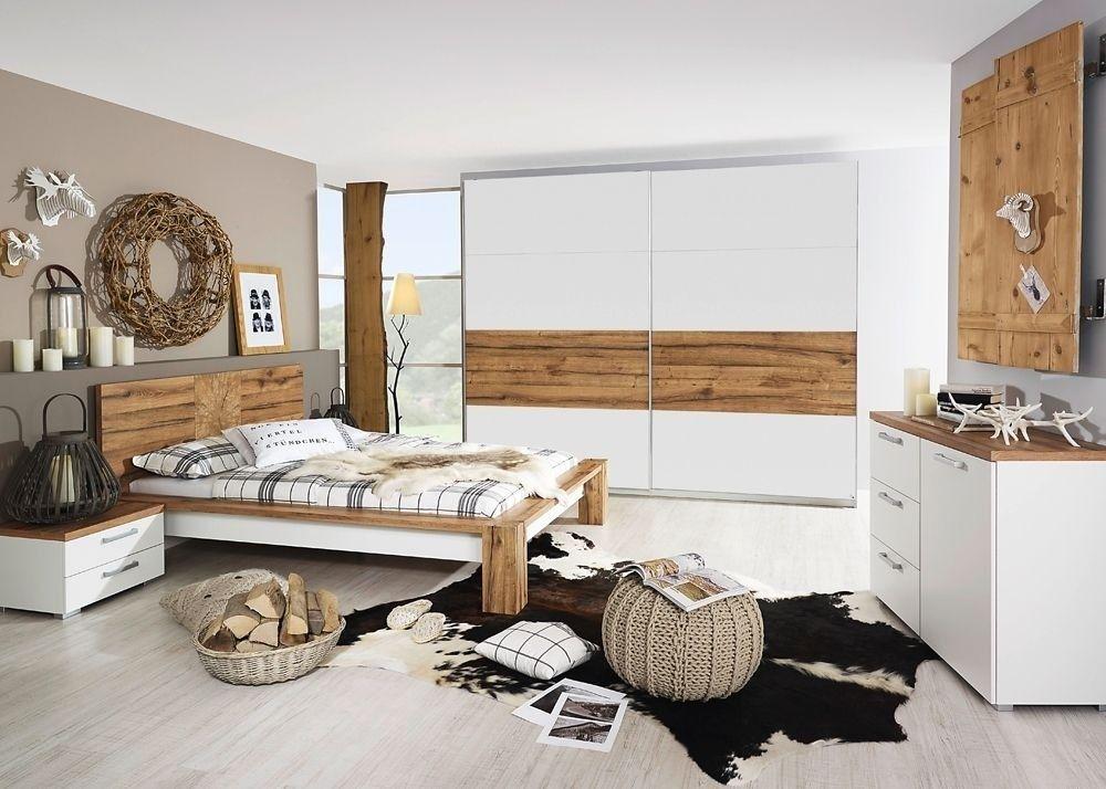 Schlafzimmer komplett Davos Wildeiche Weiß 8334 Buy now at https - schlafzimmer komplett weiß
