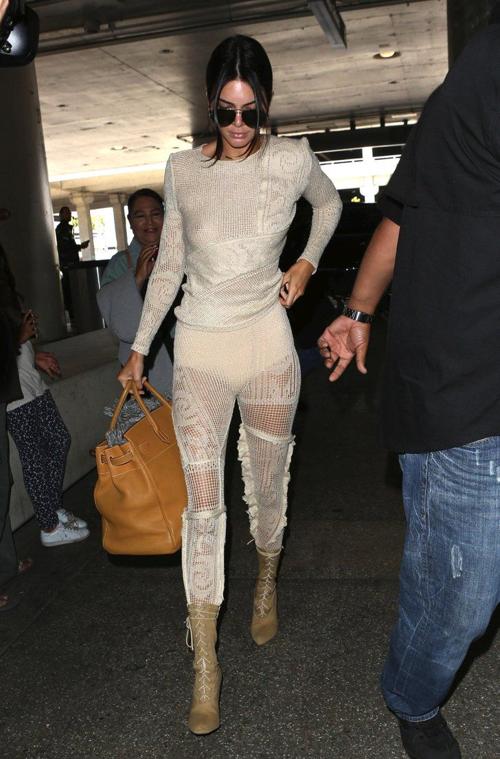 The Pants At Jenner Kendall And Now Wearing Airport Here's Naked wYBPq8
