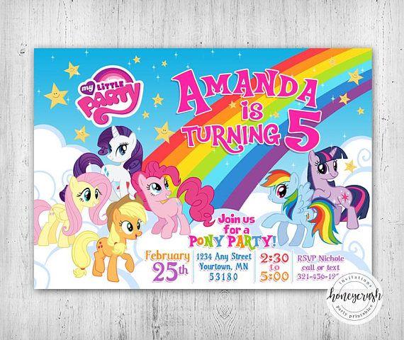 My Little Pony Birthday Invitation Printable Digital File