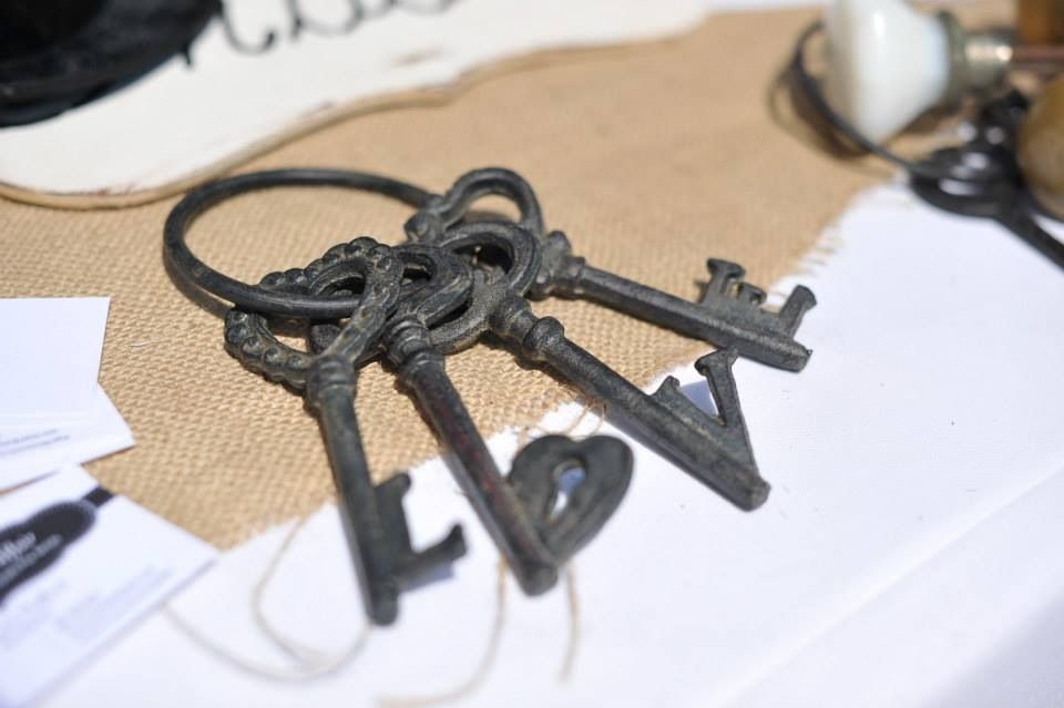 Antique skeleton style keys, vintage country rustic weddings