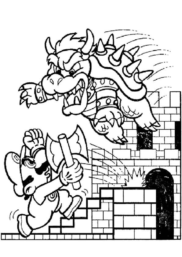 super mario coloring pages printable