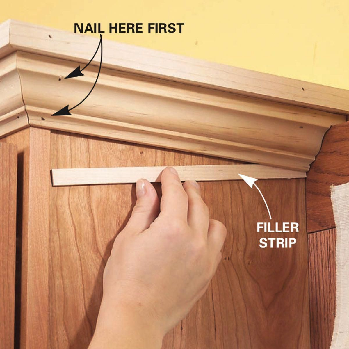 How To Add Shelves Above Kitchen Cabinets Family Handyman The Family Handyma Add Ca Above Kitchen Cabinets Kitchen Renovation Kitchen Cabinets Makeover