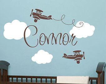 Airplane Wall Decal U2013 Etsy