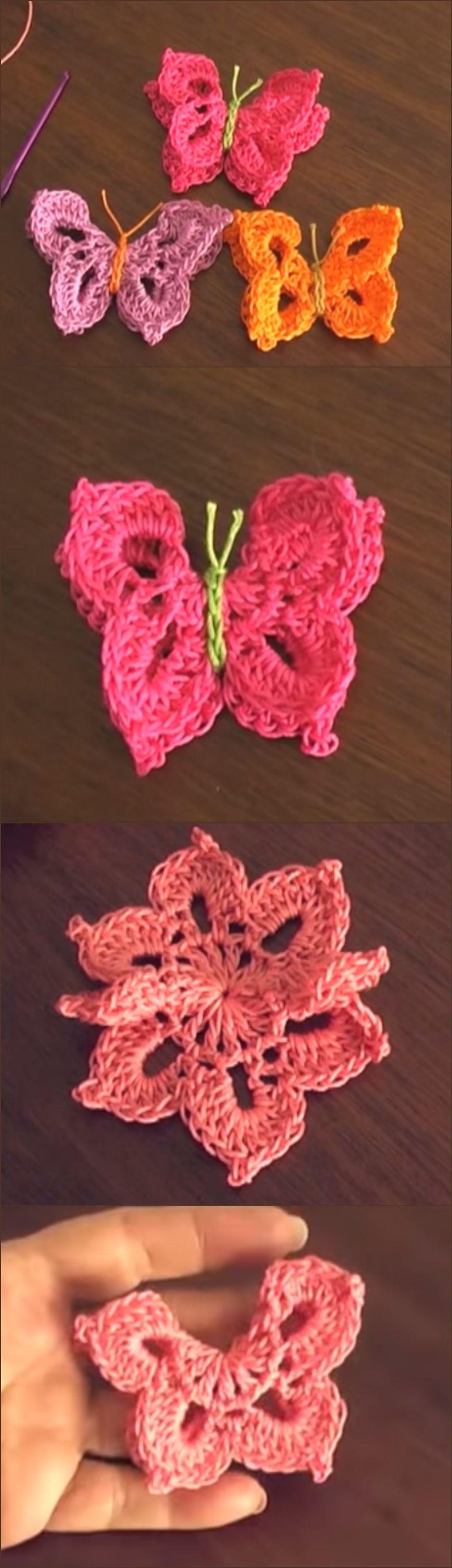 Crochet Butterfly | crochet | Pinterest | Mariposa de croché ...