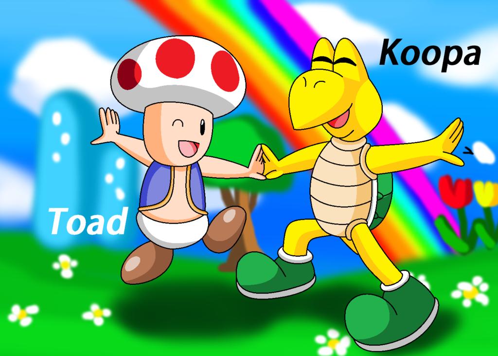 Toad And Koopa Troopa By Geriojapa Deviantart Com On Deviantart