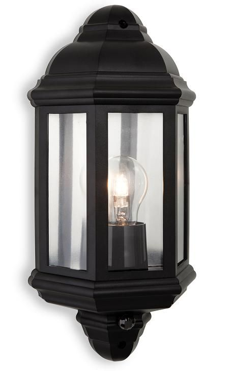 Firstlight Lighting Traditional Exterior Wall Lantern With PIR Is In A Black Finish