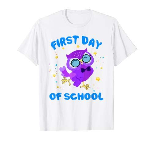 Cute Owl Happy First Day Of School Teacher Students Gift T Shirt Men