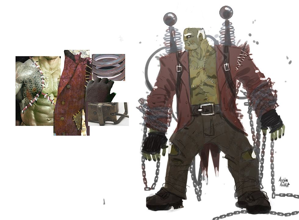 Concept Character Design Tutorials : Frankenstein s monster concept walkthrough