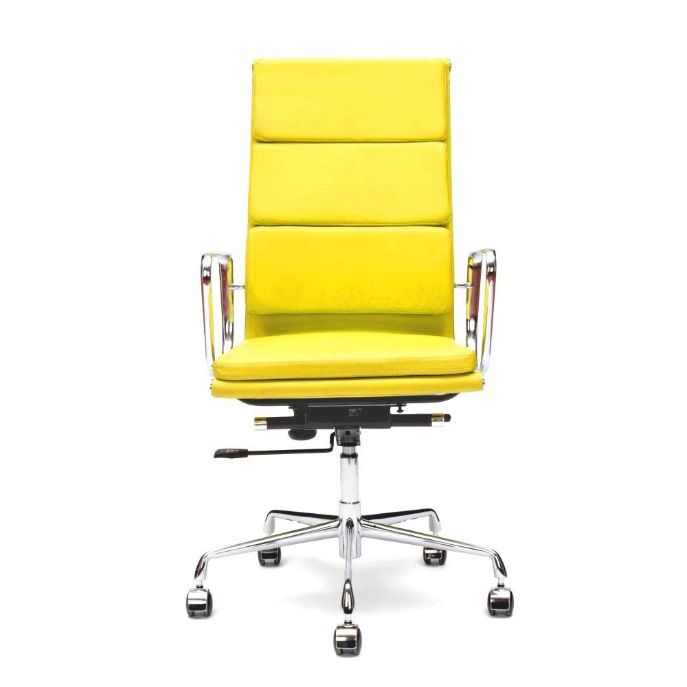 Yellow Leather Office Chair Country Home Office Furniture Check