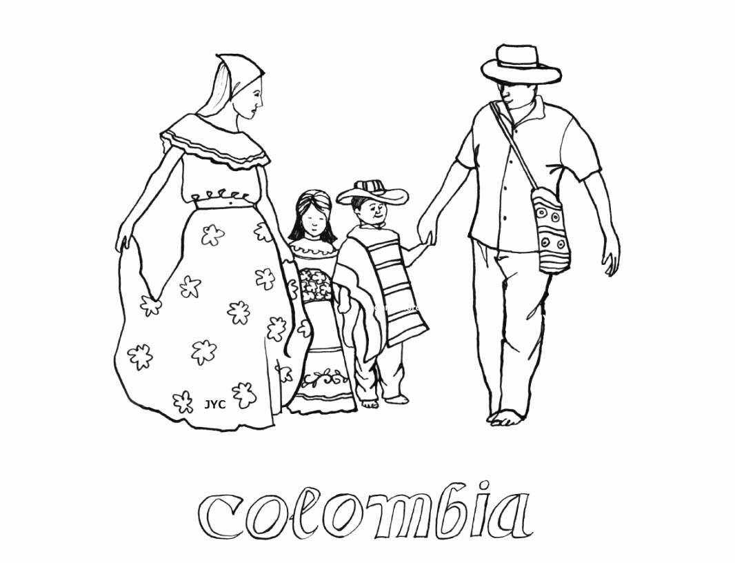 Colombian Flag Coloring Page Di 2020