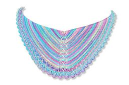 Ravelry: Pearls and the mermaid shawl pattern by Annelies Baes (Vicarno)