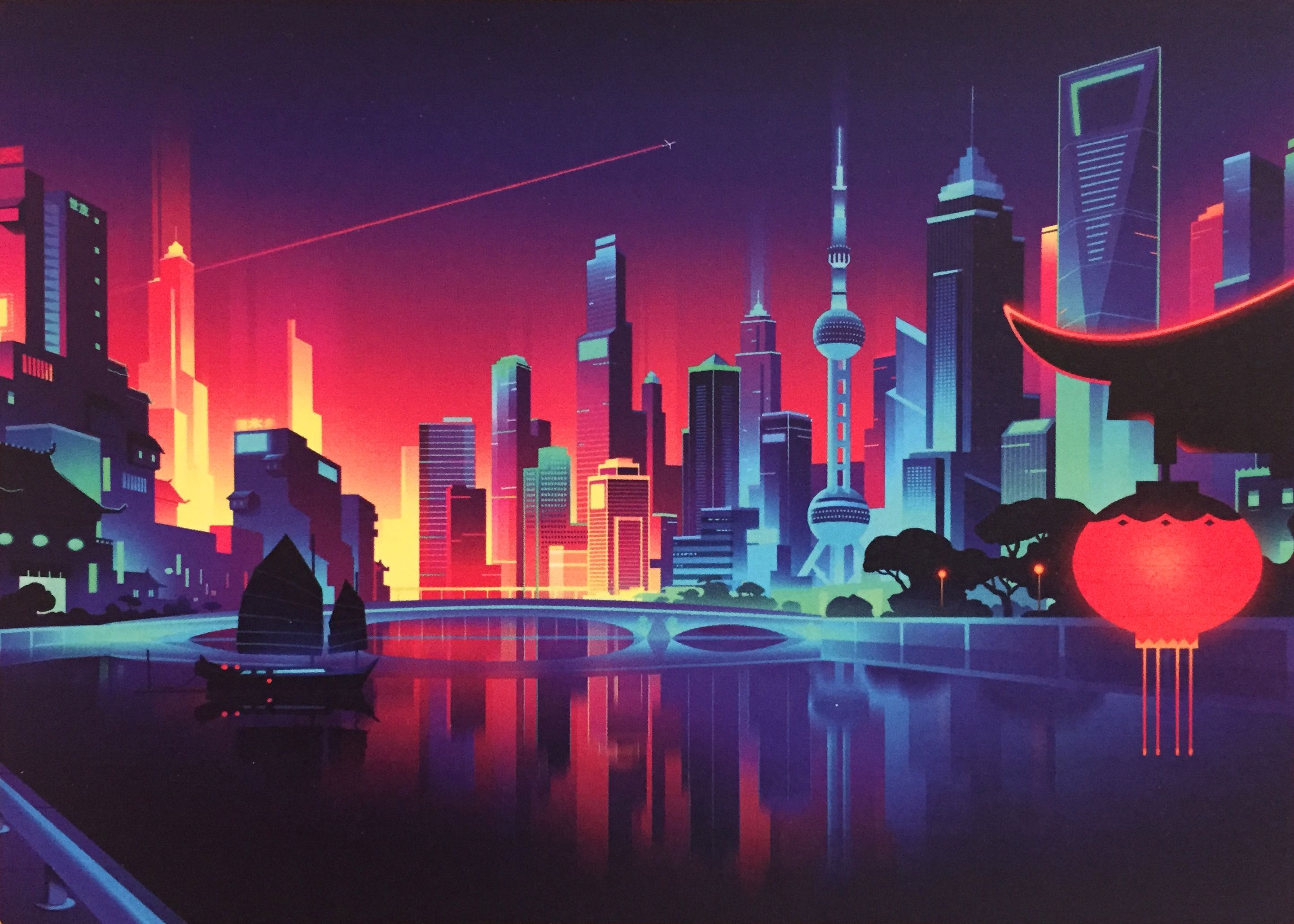 Great Illustration By Romain Trystram Available Through Mp Arts City Wallpaper City Art Cityscape Art