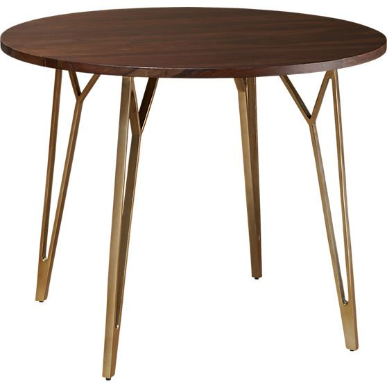 Dial Dining Table Cb2 Things Walnut
