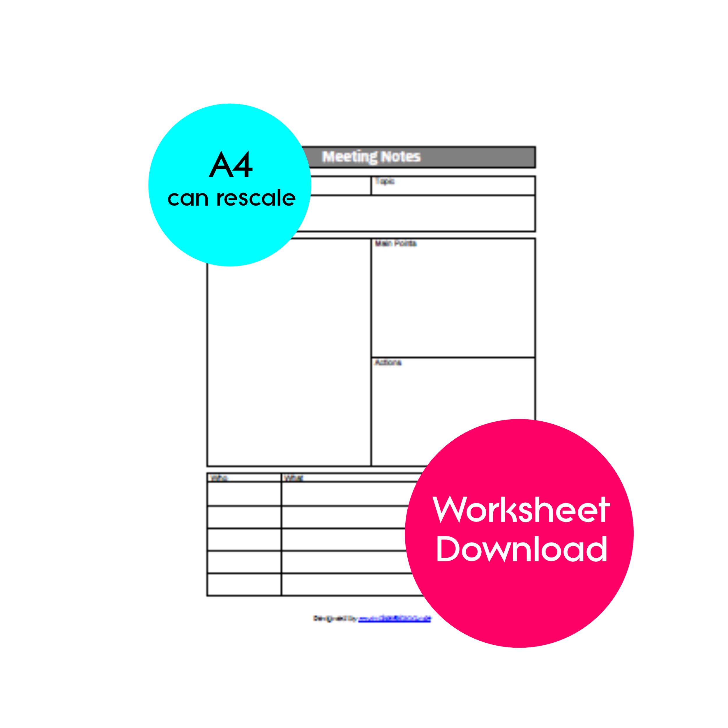 Meeting Notes Template Instant Download With Images