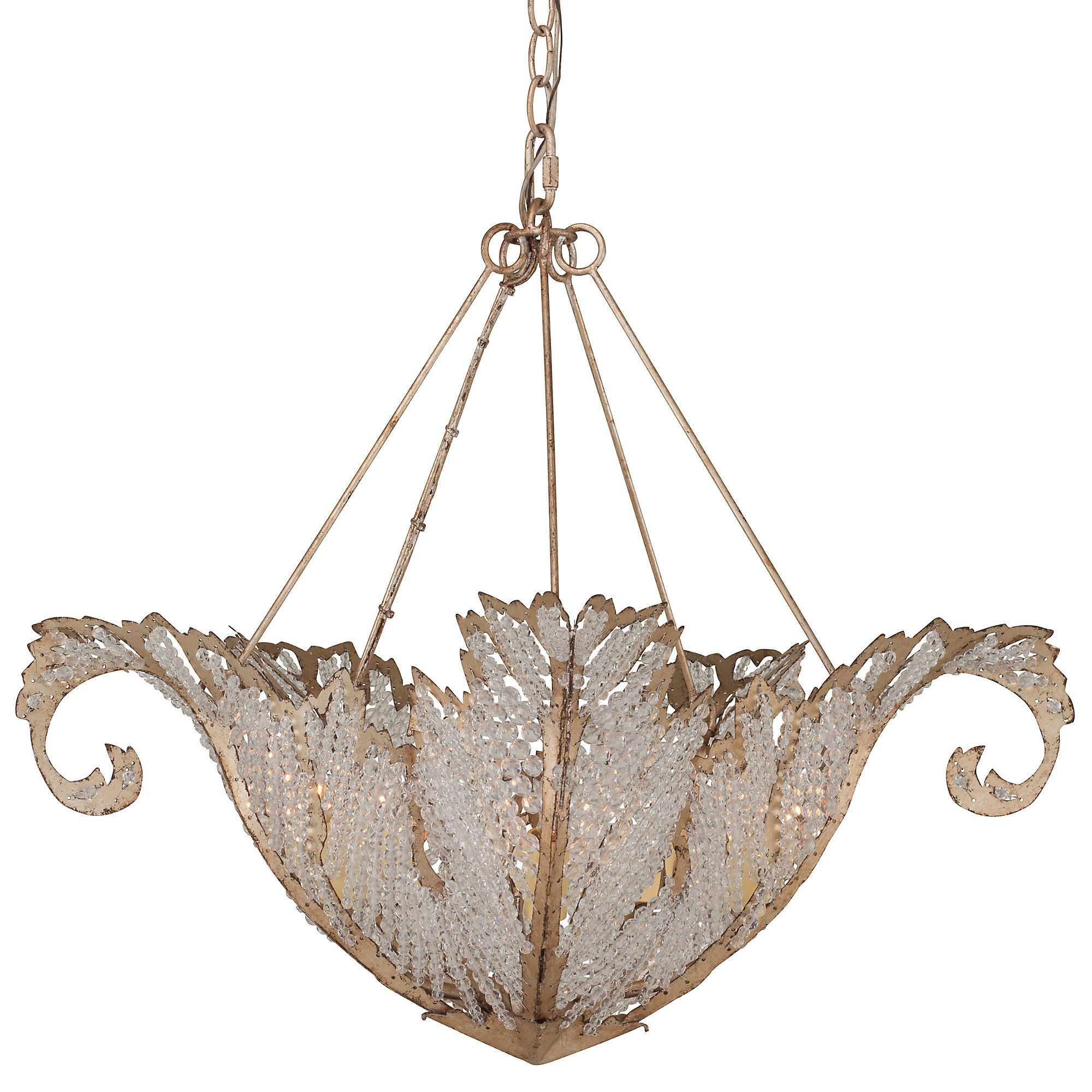 Available online exclusively at One Kings Lane: This fixture is crafted of steel with a beautifully shaped frame that's filled with an abundance of glass beading. Hardwired.