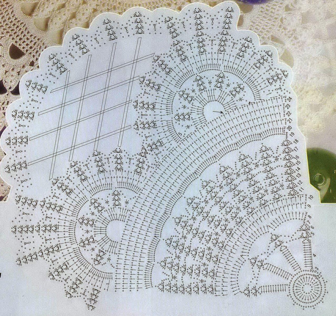 Crochet-napkin. The work of Tatiana