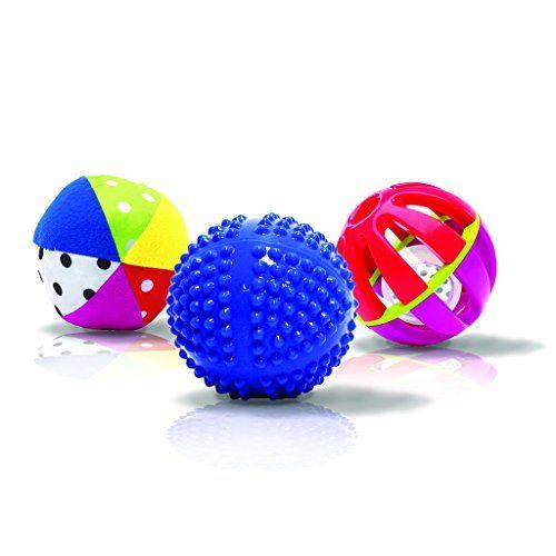 [해외] 쎄씨 감각발달 공놀이 세트(3개) Sassy Developmental Sensory Ball Set Sassy