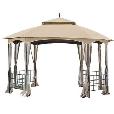 Garden Winds Baskerville Gazebo Replacement Canopy Colour Beige Material Riplock 350 Fabric Gazebo Canopy Patio Gazebo Steel Gazebo