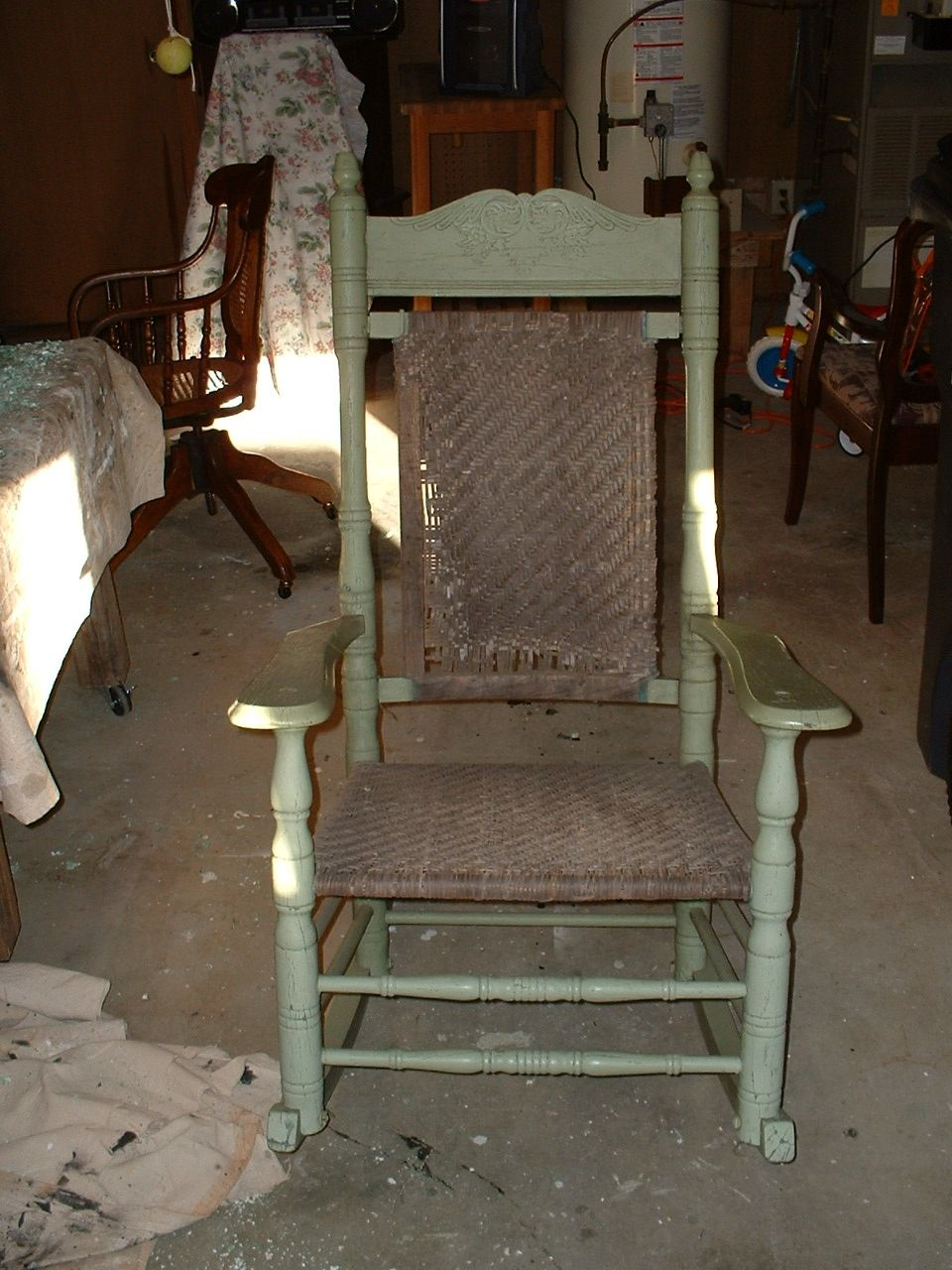 1920 Brumby Rocker before restoration. & 1920 Brumby Rocker before restoration. | Brumby Rocking Chair ...